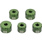 Abbey Bike Tools Top Cap Socket: Set of 5, 24 to 32mm