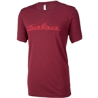 Salsa Logo Men's T-Shirt: Burgandy