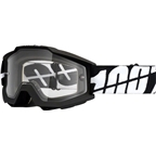100% Accuri Enduro Goggle, Black Tornado with Dual Pane Vented Clear Lens
