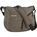 Racktime ShoulderIt Handlebar Bag: Gray Poly-Tweed