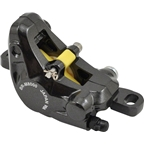 Shimano XT M8000 Disc Brake Caliper, Black with Resin Pads (without fins), Front or Rear