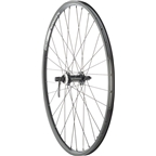 "Quality Wheels Front Wheel Rim and Disc Convenience 26"" 32h Shimano TX505 / Alex DC19 / DT Factory Black"