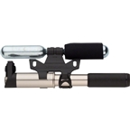 Birzman Sheath Apogee Pump with Extendable Hose and Co2 inflator Silver