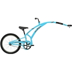 Adams Trail A Bike Folder One Child Trailer: Light Blue