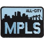 All-City MPLS Patch Black/Blue 3.5 x 2.5""