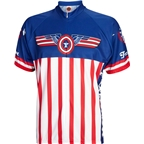 World Jerseys USA Freedom Men's Cycling Jersey: White/Blue/Red