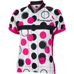 World Jerseys Formaggio Bubble Women's Cycling Jersey: White/Fuchsia/Black