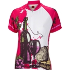 World Jerseys Wine Time Women's Cycling Jersey: White/Red