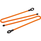 "Nite Ize Gear Tie Loopable 12"" Twist Tie: 2-Pack, Bright Orange"