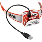 Petzl REACTIK+ Reactive Rechargeable Headlamp: Orange
