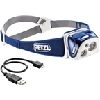 Petzl REACTIK Reactive Rechargeable Headlamp: Blue