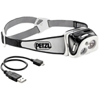 Petzl REACTIK Reactive Rechargeable Headlamp: Black