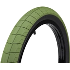 "Eclat Fireball Tire 20 x 2.3"" 100 PSI Army Green Tread/Black Sidewall"