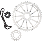 Wolf Tooth Components WolfCage Combo Pack: Includes 49T Cog, 18T Cog, SGS Adaptor Cage for XT8000, Silver