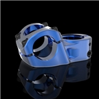 Promax Impact 53mm Top Load Stem for 31.8mm Bars Blue