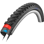 "Schwalbe Marathon GT 365 Tire, 26 x 2"" Wire Bead Black with DualGuard and Reflective Sidewall"