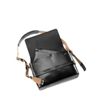 Brooks Barbican Hard Leather Messenger Bag - Black