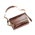 Brooks Barbican Hard Leather Messenger - Brown