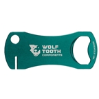 Wolf Tooth Components Bottle Opener And Rotor Truing Tool Green