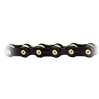 "Wippermann ConneX-9sB 9sp Hollow Chain 11/128"" - Black/Brass"