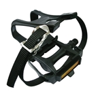 "Wellgo R090 Pedals With Clips/Straps 9/16"" - Black"