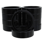 "Vuelta Headset Spacer 1-1/8"" X 10mm - Black 10/Bag"