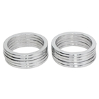 "Vuelta Headset Spacer 1-1/8"" X 2.5mm - Silver 10/Bag"
