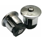 Soma Alloy Locking Bar-End Plugs - Silver
