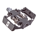 HT Components Duo Platform+Clipless Pedals CrMo - Black