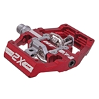 HT Components X2 Clipless Platform Pedals, CrMo - Red