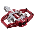 HT Components T1 Clipless Platform Pedals CrMo - Red