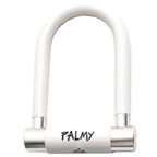 "Palmy Alloy Mini U-Lock 3"" X 5"" - White"