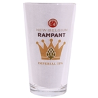 New Belgium Brewing Company Rampant Imperial IPA Logo Pint Glass - Clear
