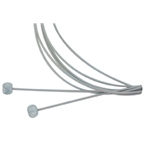 Aztec Stainless Brake Cable Set Mtn - Front/Rear