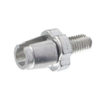 Alligator Barrel Adjuster With Nut (7mm) Silver - 10/bottle