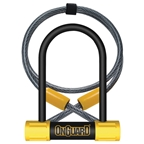 OnGuard Bulldog Mini DT U-Lock With Cable - 3.5x5.5""