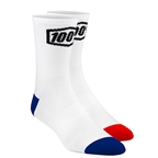 100% Terrain Socks White - L/XL