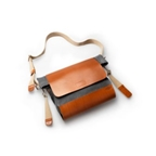 Brooks Brixton Casual Satchel - Gray/Honey