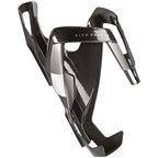 Elite Vico Carbon Bottle Cage - Glossy Black/White