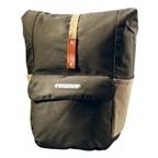 Brooks Suffolk Rear Travel Panniers w/ Roll Top - Green/Honey