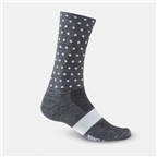 Giro Seasonal Merino Wool Socks Charcoal/White Dots