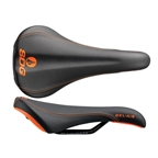 SDG Bel-Air RL Saddle - Steel Rails - Black/Orange