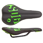 SDG Fly Jr Saddle - Steel Rails - Black/Green