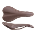 Charge Bikes Spoon Saddle - Titanium - Dark Brown