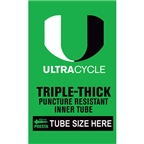 Ultracycle Triple-Thick/Puncture Resistant Presta Valve Tube 26 x 1.9-2.125""