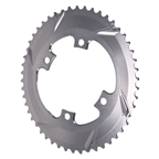 Absolute Black Premium Oval Road Chainring - 4x110BCD 50T - Grey