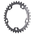 Absolute Black Winter Oval Road Chainring - 5x110BCD 34T