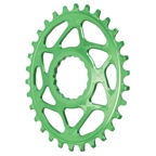 Absolute Black Spiderless Cinch DM Oval Boost Chainring - 30T - Green