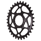 Absolute Black Spiderless Cinch DM Oval Boost Chainring - 32T - Black