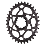Absolute Black Spiderless GXP (Boost/3mm) DM Oval Chainring - 34T - Black